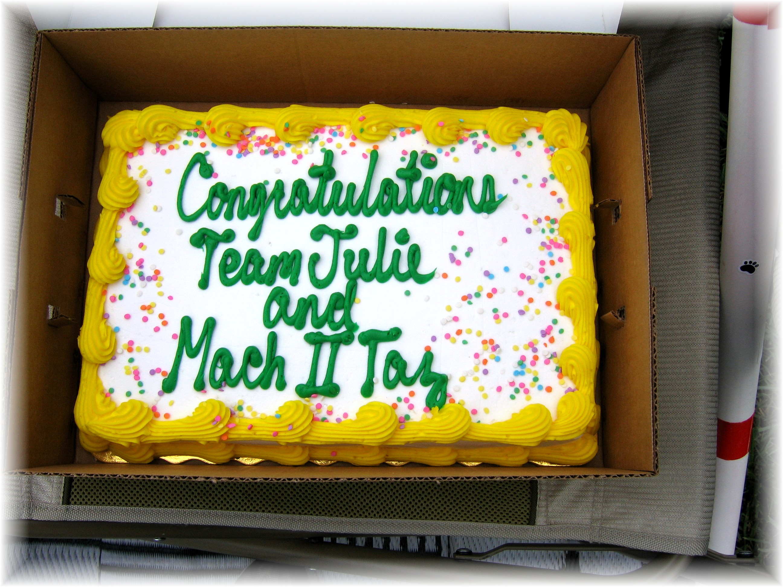 MACh cake! Thanks to Lisa and Chris!!